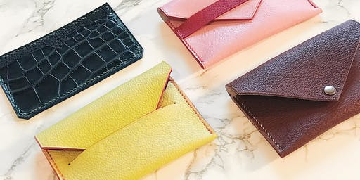 One-day Leather Cardholder Making Class  (2 hrs)
