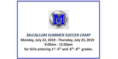 McCallum Summer Girls Soccer Camp 2019