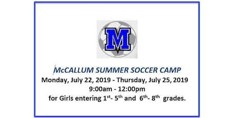 McCallum Summer Girls Soccer Camp 2019 tickets
