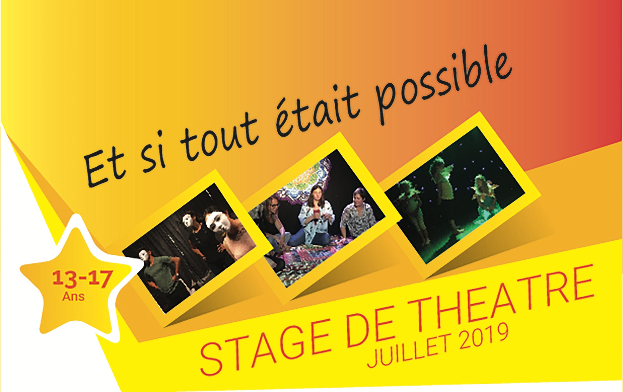 Stage de Théâtre 8-12 juillet 2019 Ados