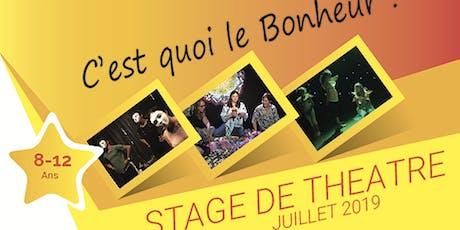 Stage de Théâtre 1-5 juillet 19 Enfants/Ados billets