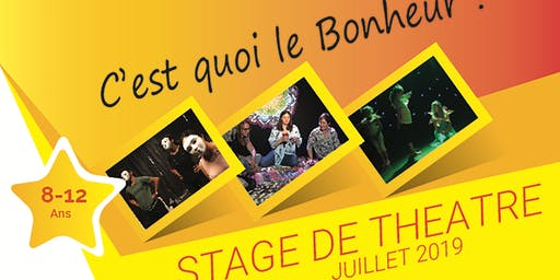 Stage de Théâtre 1-5 juillet 19 Enfants/Ados