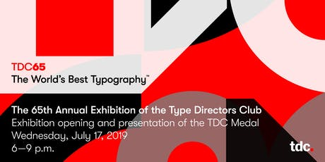 TDC65 Opening Exhibition and Reception tickets