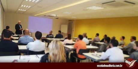Curso de Auditoria Interna, Controle Interno e Gestão de Riscos - São Paulo, SP -  08 e 09/ago ingressos