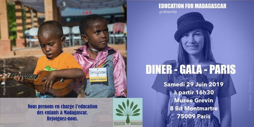 Gala - Diner - Education For Madagascar à Paris
