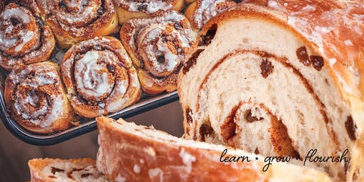 Cinnamon Rolls & Cinnamon Raisin Bread: Learning the techniques with Lori Smith