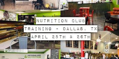 Nutrition Club Training - Dallas Texas