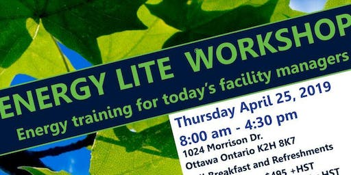 POSTPONED: ENERGY LITE Workshop: Energy training for today's facility managers