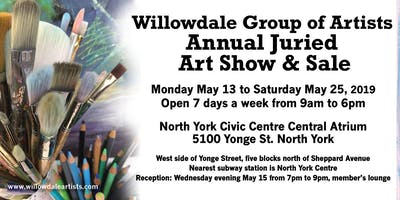 2019 ANNUAL JURIED SHOW RECEPTION: WILLOWDALE GROUP OF ARTISTS