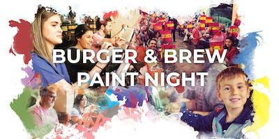 Burger & Brew Paint Night