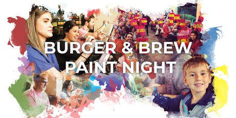 Burger & Brew Paint Night tickets