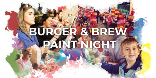 Burger & Brew Paint Night