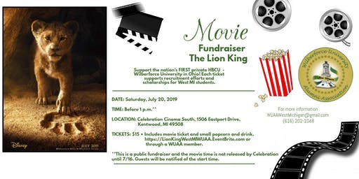 Lion King Movie Fundraiser