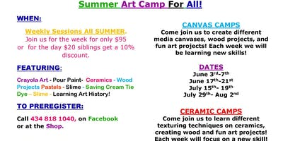 Summer Art Camp at Imagination Station Studio
