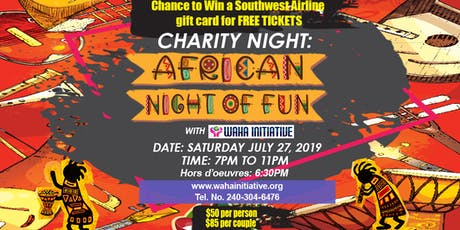 African Night of Fun with WAHA INITIATIVE tickets