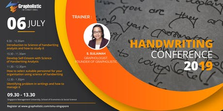 Handwriting Conference 2019 in Singapore (By Grapholistic International) tickets