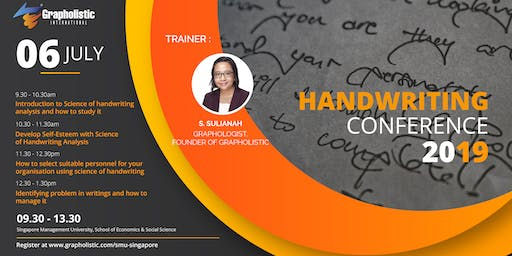 Handwriting Conference 2019 in Singapore (By Grapholistic International)