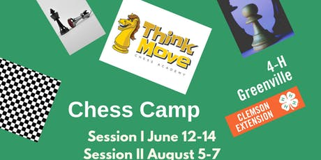 4-H Chess Camp Session II, August 5-7 tickets