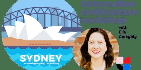 Information architecture in practice - Sydney - June 2019 - Training workshop tickets