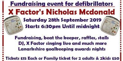 Fundraising for defibrillators with X factors Nicholas Mcdonald