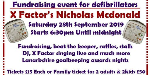 Fundraising for defibrillators with X factors Nicholas Mcdonald