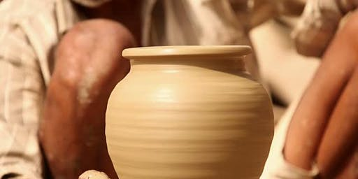 Pottery wheel throwing