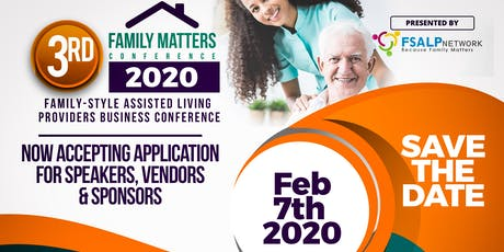 Assisted Living Provider's Business Conference: Family Matters Conference 2020 tickets