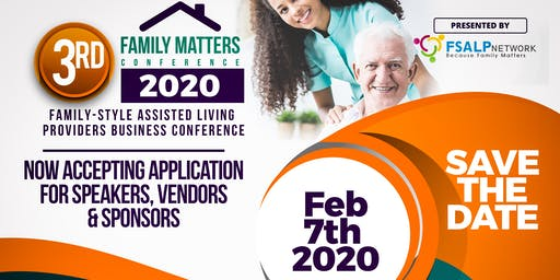 Assisted Living Provider's Business Conference: Family Matters Conference 2020