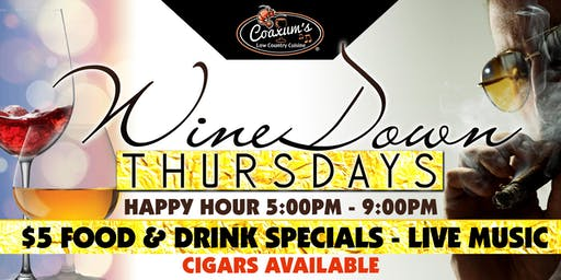 Wine Down Thursdays @ Coaxum's Low Country Cuisine