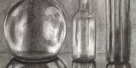 Mastering Reflections | Large Scale Charcoal Drawing  tickets
