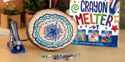 Melting Magic: DIY Melted Crayon MANDALAs with Cra