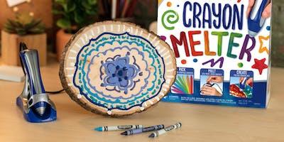 Melting Magic: DIY Melted Crayon MANDALAs with Crayola - Brooklyn
