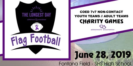 2019 Longest Day Flag Football Games for Alzheimer's Awareness tickets