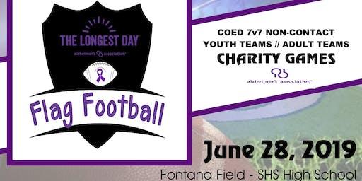 2019 Longest Day Flag Football Games for Alzheimer's Awareness