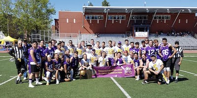 Vancouver College Fighting Irish 35th Annual Alumni Football Game. May 11, 2019  1:00pm Kickoff.