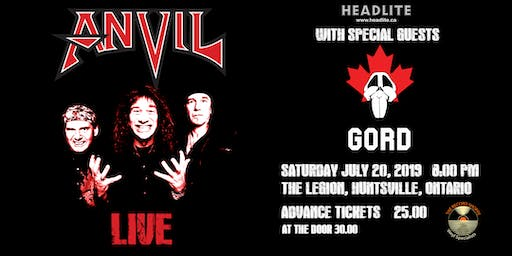 CANADIAN METAL LEGENDS ANVIL WITH SPECIAL GUESTS GORD