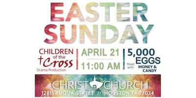 FREE Easter Sunday Drama and Texas Sized Egg Hunt