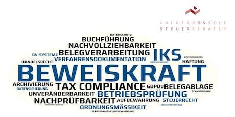 """Steuerkanzlei Aichach - damit der Prüfer keine """"Kasse"""" macht! Tickets"""