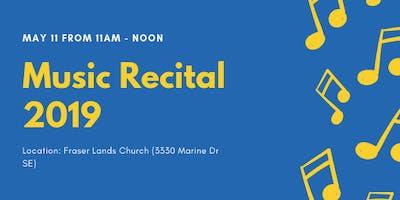 May 11at 11am-noon Music Recital