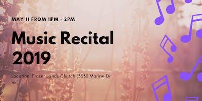 May 11 at 1-2pm Music Recital