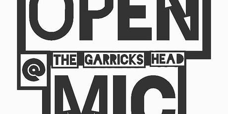 Open Mic At The Garricks Head tickets