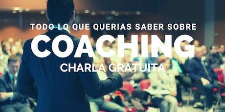 Charla informativa sobre Coaching entradas