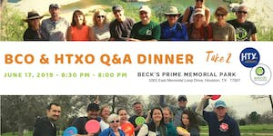 BCO & HTXO Q&A Dinner - Take 2