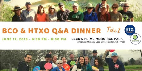 BCO & HTXO Q&A Dinner - Take 2 tickets