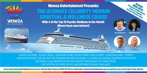 THE ULTIMATE CELEBRITY MEDIUM  SPIRITUAL CRUISE