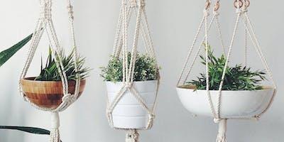 Macrame Plant Hanger Fun!