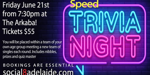Speed Trivia Night