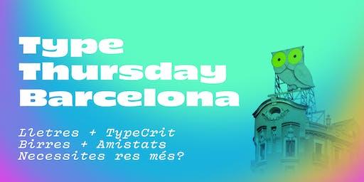 TypeThursday BCN ➽ Septiembre