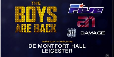 The boys are back! 5ive/A1/Damage/911 (De Montfort Hall, Leicester) tickets