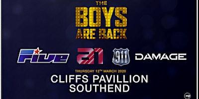 The boys are back! 5ive/A1/Damage/911 (Cliffs Pavilion, Southend)